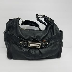 B Makowsky Pebbled Leather Handbag